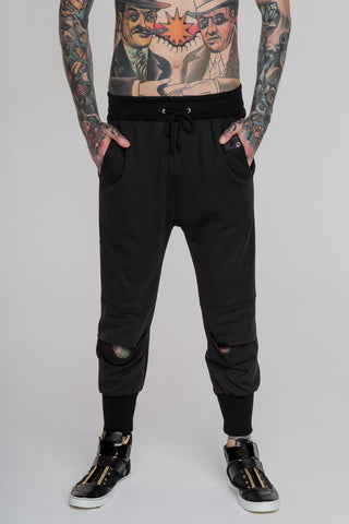 Image of No Attack Pleated Pants Black