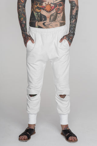 Image of No Attack Pleated Pants White