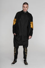 Image 1 of No Attack Black & Gold Falcon Bomber Jacket