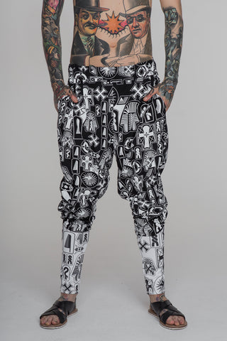 Image of No Attack Neb Taui Pants Print