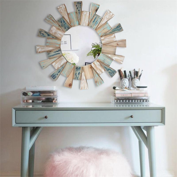 Multi Wood Wall Mirror
