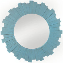 Load image into Gallery viewer, Blue Round Sunburst  Mirror