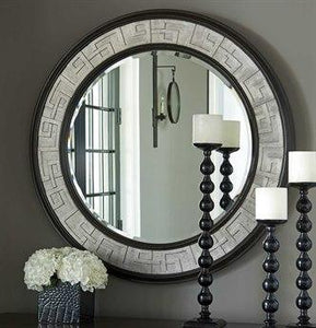 Barclay Butera Brentwood Wilshire  Round Wall Mirror