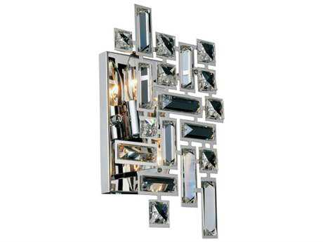 Chrome Two-Light Wall Sconce