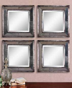 Davion Squares Mirrors  2 Piece Set
