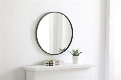 Eternity Black Round  Mirror