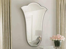 Load image into Gallery viewer, Fleur De Lis Polished Silver Mirror