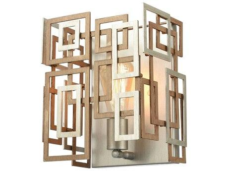 Gold / Aged Silver 1-light Wall Sconce
