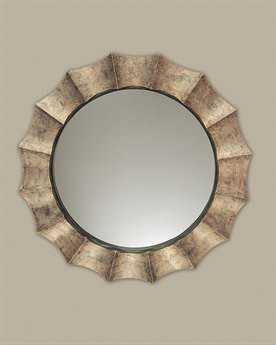 Gotham Round Antique Silver Mirror