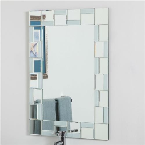 Modern Rectangle  Mirror With Unique Border