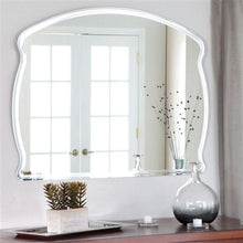 Load image into Gallery viewer, Rectangular Arch Top Wavy Modern Frameless Wall Mirror