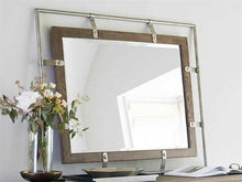 Load image into Gallery viewer, Rustic Patina Peppercorn / Burnished Silver Rectangular  Mirror