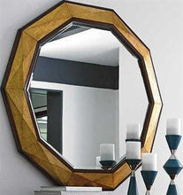 Load image into Gallery viewer, Take Five Hand Burnished Gold Leaf  Mirror
