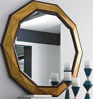 Take Five Hand Burnished Gold Leaf  Mirror