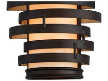 Load image into Gallery viewer, Vertigo Bronze / Gold Leaf Three-Light Incandescent Wall Sconce