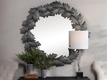 Load image into Gallery viewer, Zandra Dark Green / Gray-blue Wall Mirror