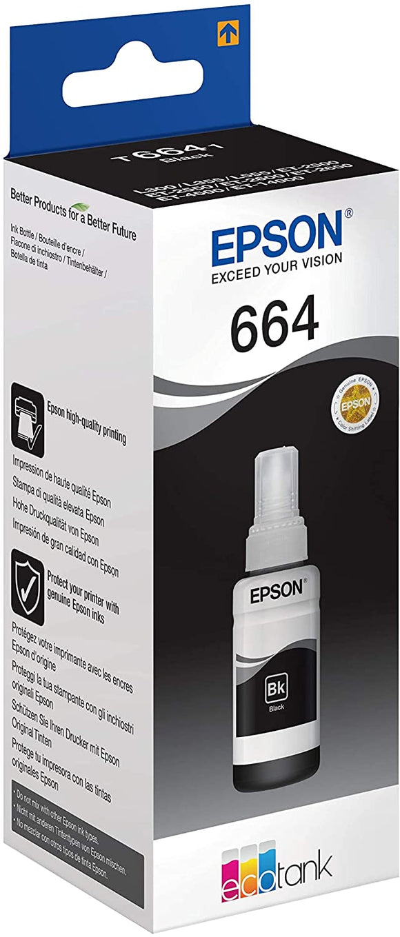 Epson T664 Ink Bottle -  Black