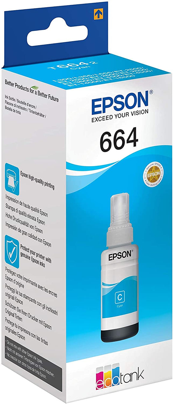 Epson T664 CYAN INK BOTTLE 70ML