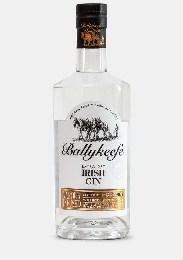 Ballykeefe Extra Dry Irish Gin | JMJ Imports | Premium Irish Gins, Whiskeys, Liqueurs & Mixers now available in Australia.