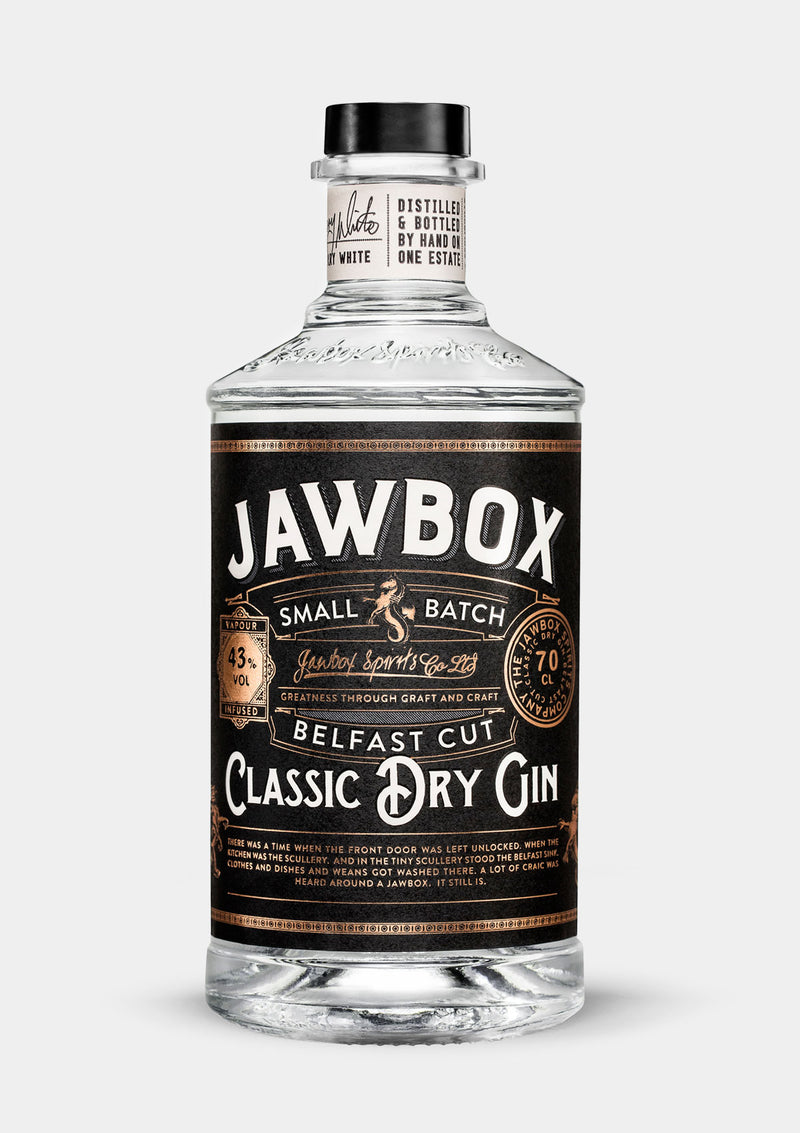 Jawbox Classic Dry Gin | JMJ Imports | Premium Irish Gins, Whiskeys, Liqueurs & Mixers now available in Australia.