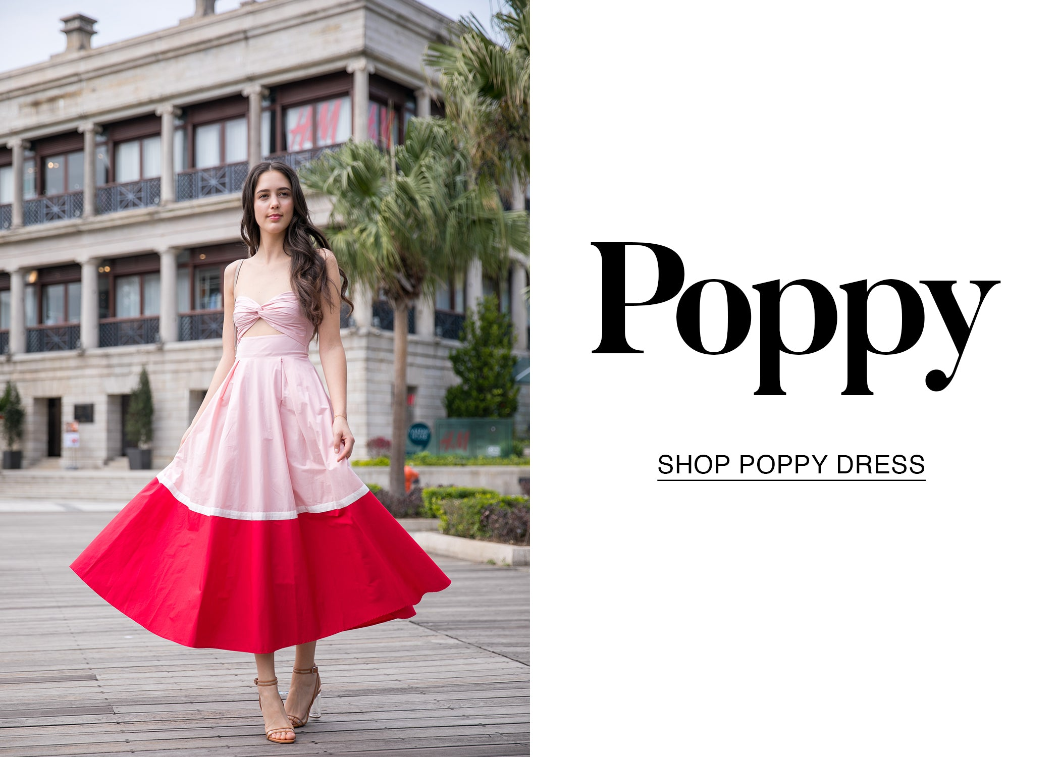 Shop Poppy Cotton Bandeau Midi Dress