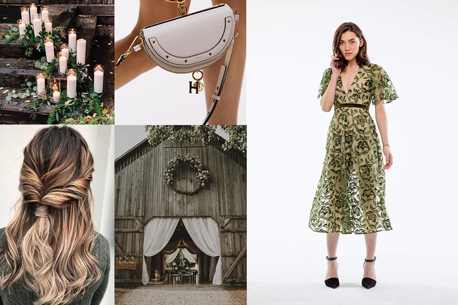 Wedding guest outfit inspiration for barn wedding