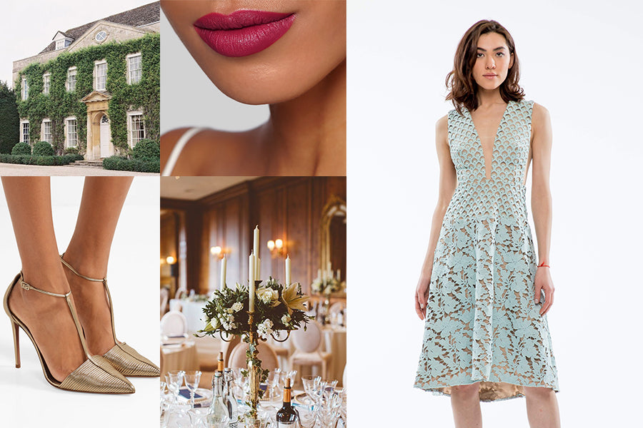 Wedding guest outfit inspiration for a country house wedding