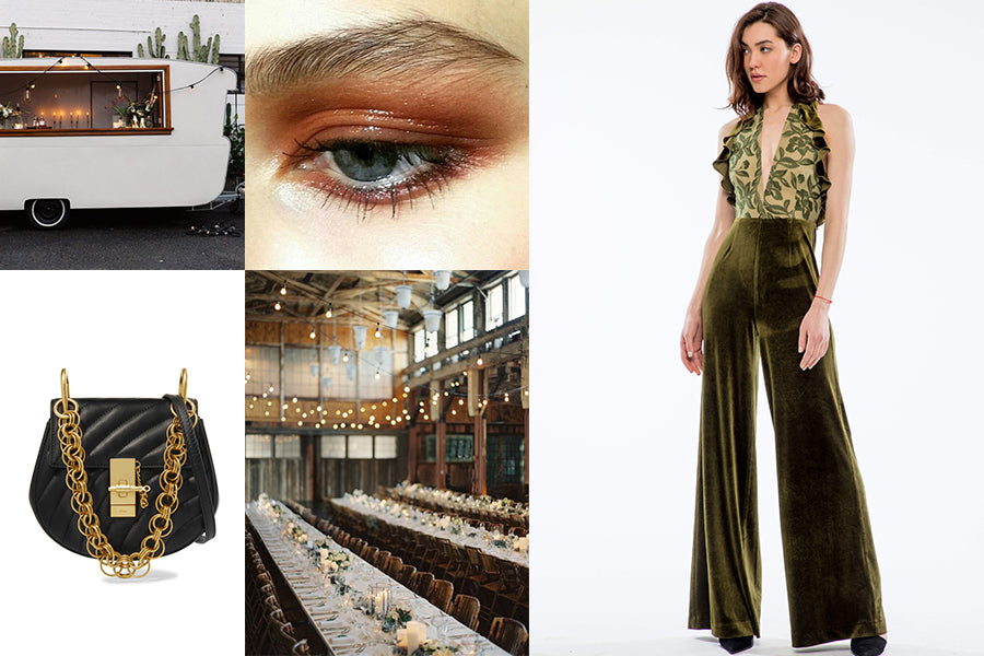 Wedding guest outfit inspiration for a warehouse wedding