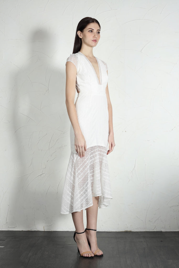 Simone Dress (White)
