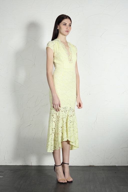 Simone Dress (Pale Yellow) - SAU LEE