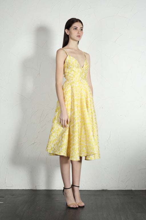 Mia Dress (Yellow) - SAU LEE