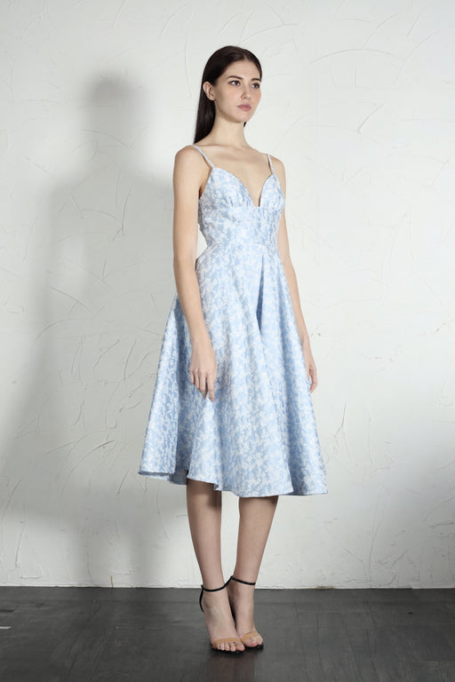 Mia Dress (Blue) - SAU LEE