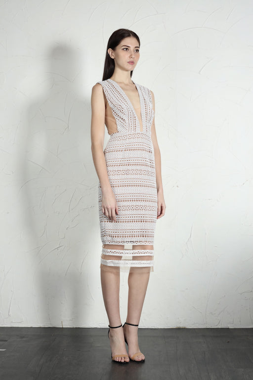 Kendall Dress (White) - SAU LEE