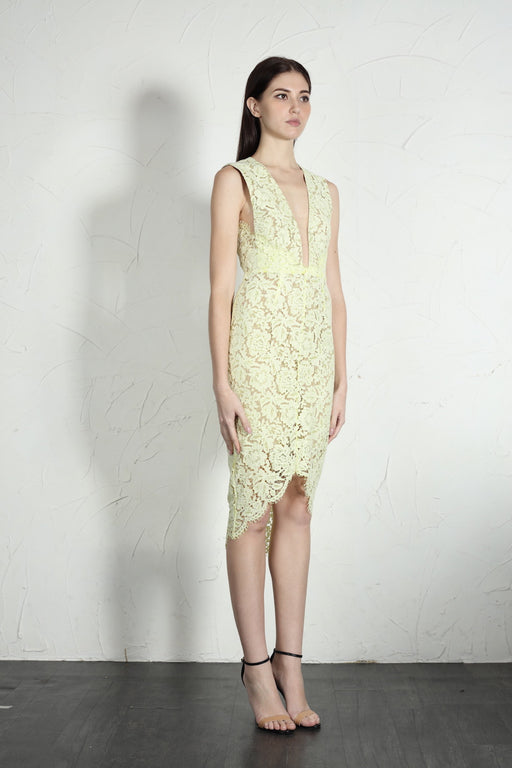 Chloe Dress (Pale Yellow) - SAU LEE