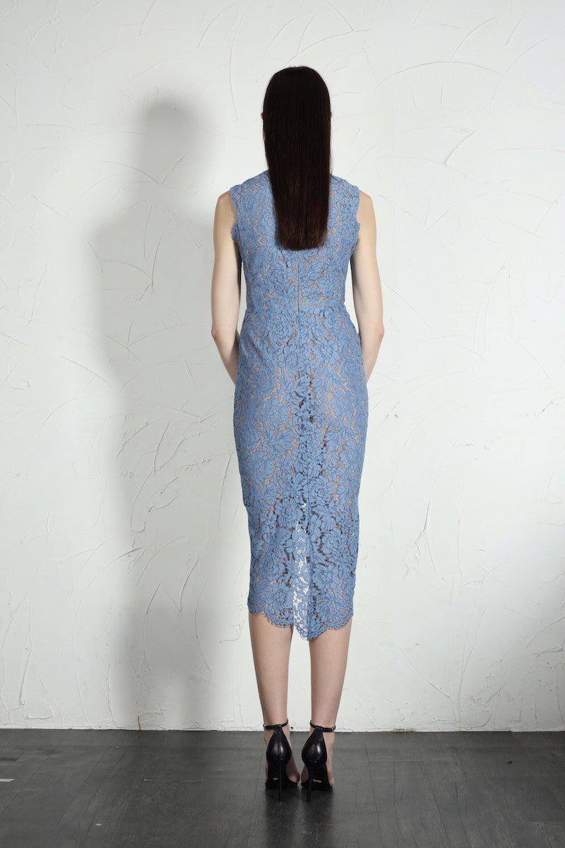 Chloe Dress (Blue) - SAU LEE