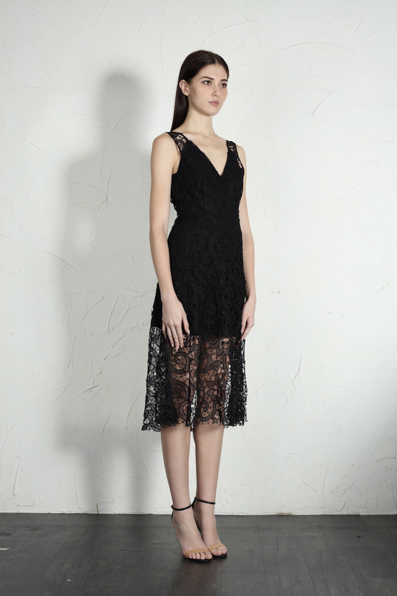 Jessica Lace Dress - SAU LEE