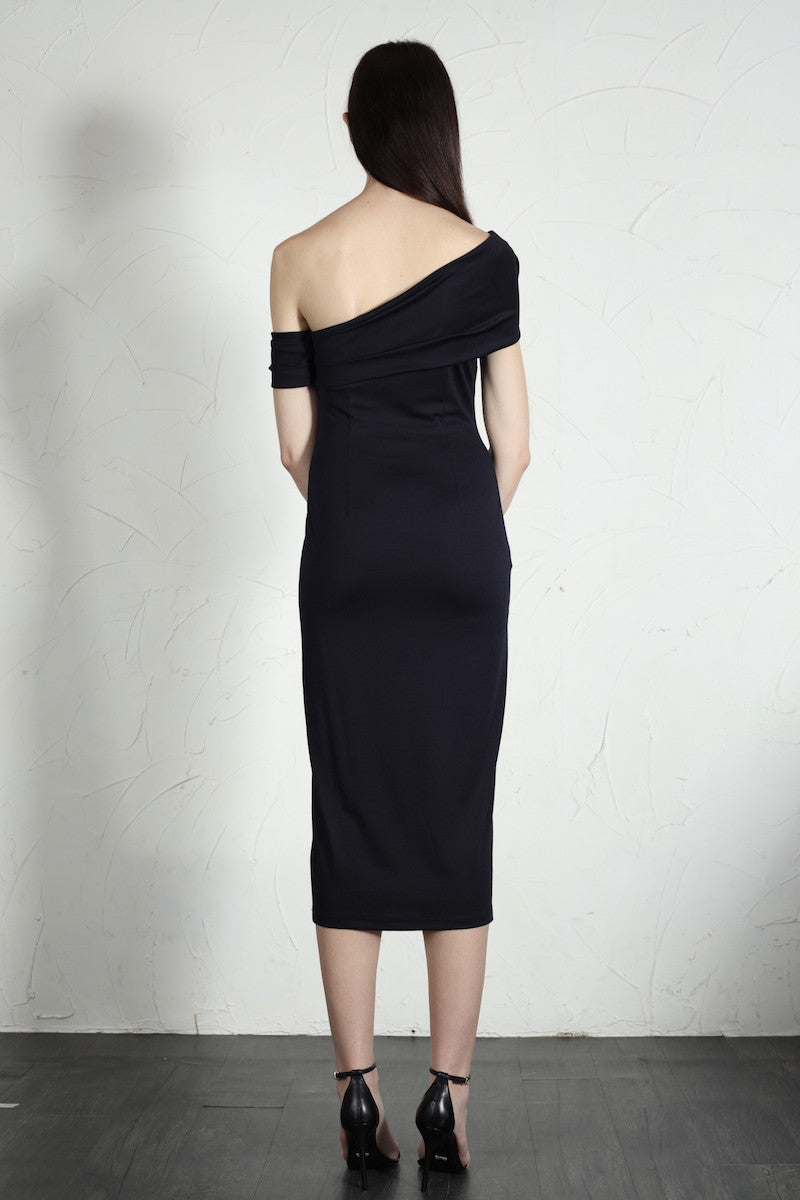 Emma Dress (Navy) - SAU LEE