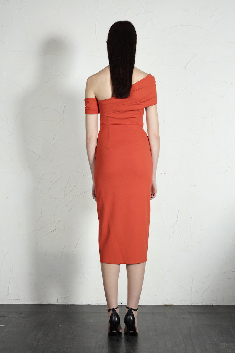 Emma Dress (Orange) - SAU LEE