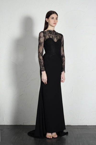 Blair Long Sleeve Lace Gown - SAU LEE