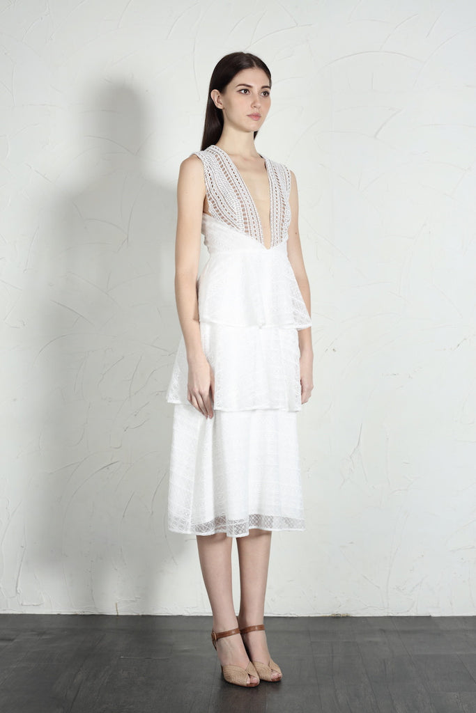 Camille Dress (White)