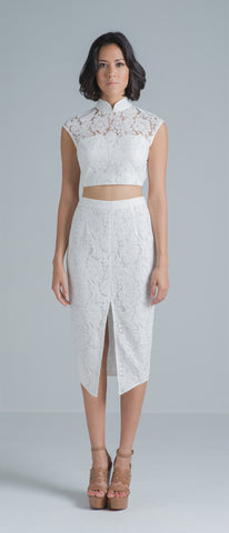 Zoe Lace Skirt (White)
