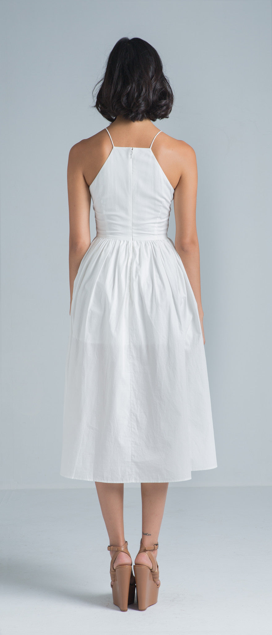 Taylor Cotton Dress (White) - SAU LEE