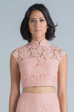 Zoe Backless Crop Top (Pale Pink)
