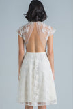 Aaliyah Lace Backless Dress