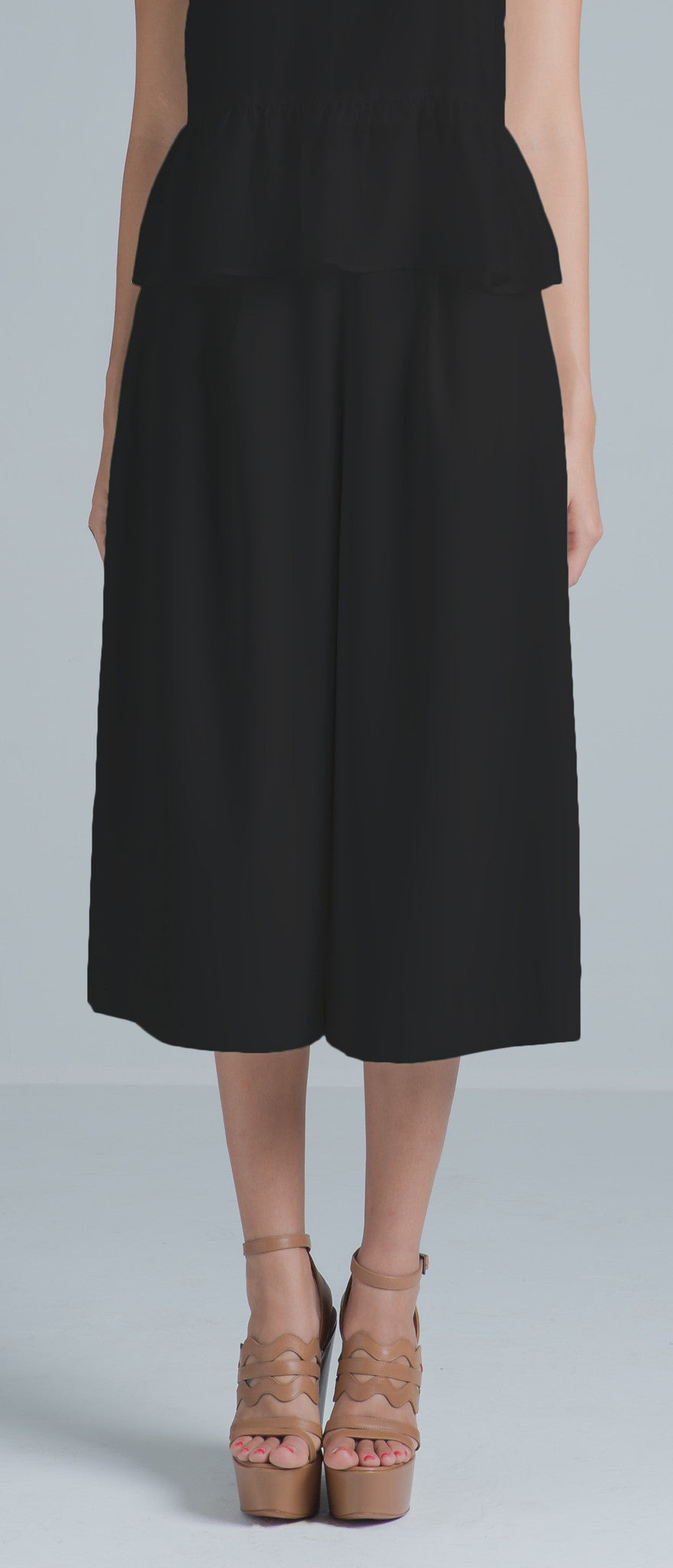Loren Tailored Culottes (Black) - SAU LEE