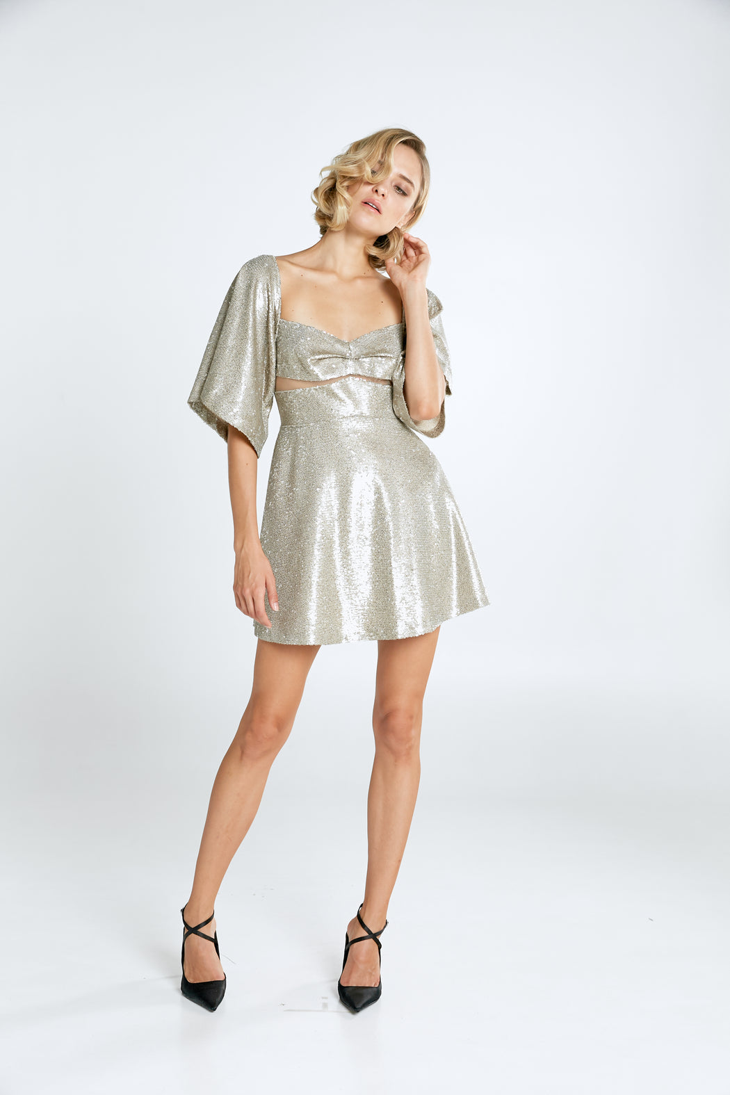 Farrah Silver Sequin Mini Dress - SAU LEE