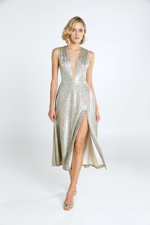 Bianca Sequin Midi Dress - SAU LEE