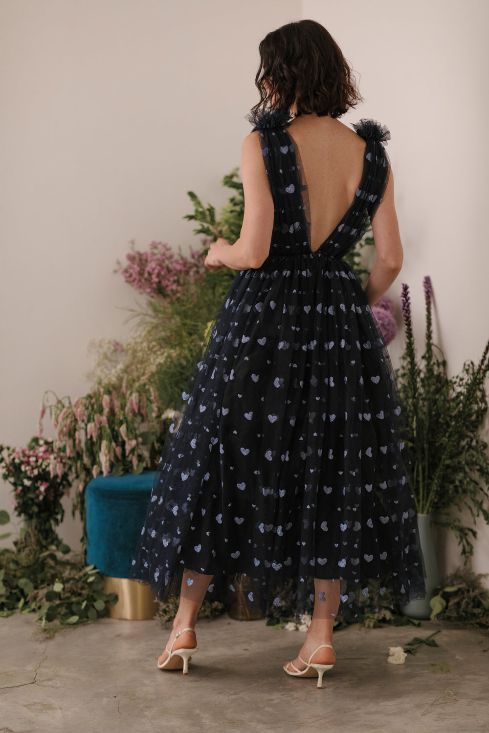 Heather Heart Tulle Dress - SAU LEE