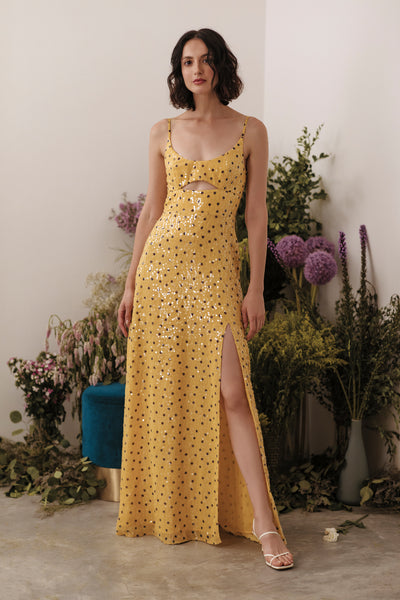 Harriet Sequin Chiffon Gown - SAU LEE