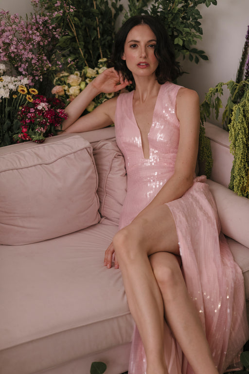 Genevie Sequin Gown (Pink)